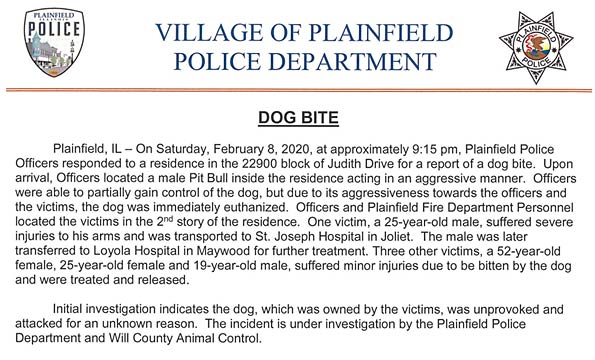 plainfield pit bull attack