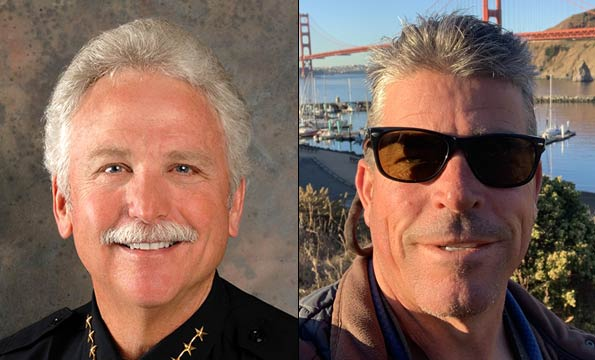 Dennis Webb and police chief, marin humane society